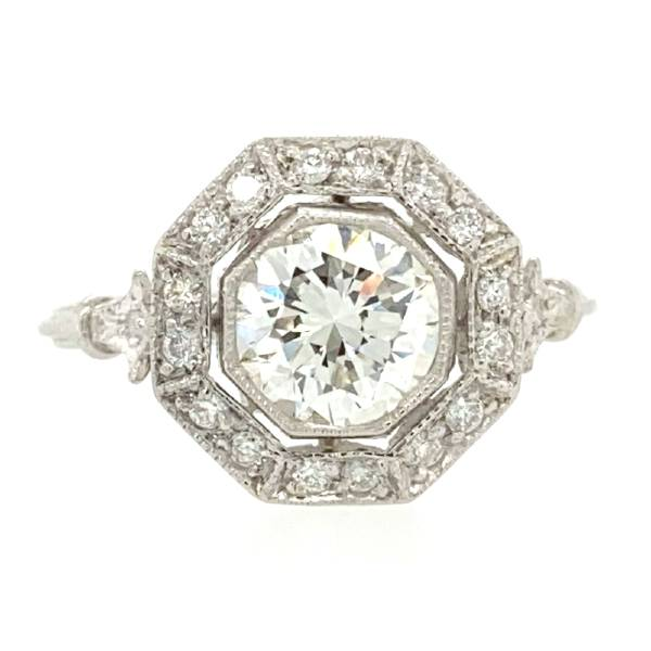 14k 1.36 CTW Antique Style Engagement Ring